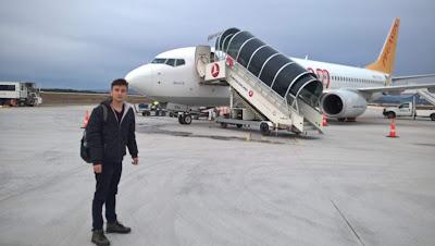 Harun İstenci Kastamonu Havalimanına Boeing 737-800 tipi uçakla indi...