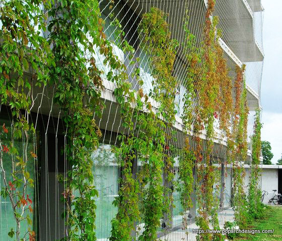 Green facade indirect system