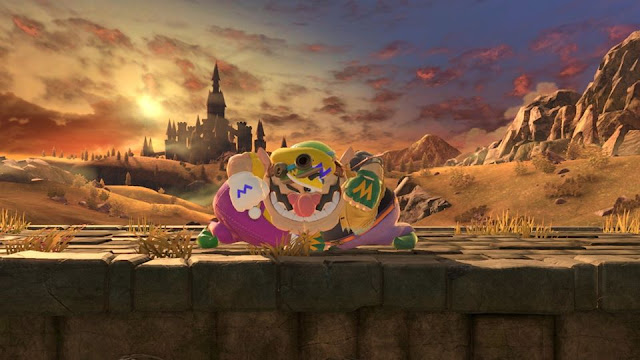 Super Smash Bros. Ultimate cursed image double Wario shoulder bash model clipping overlapping mirror