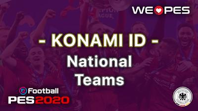 Konami ID | National Teams | PES 2020