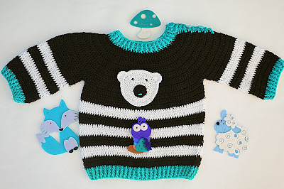 4 - Crochet Imagen Jersey marinero a crochet y ganchillo lindo facil sencillo por Majovel Crochet