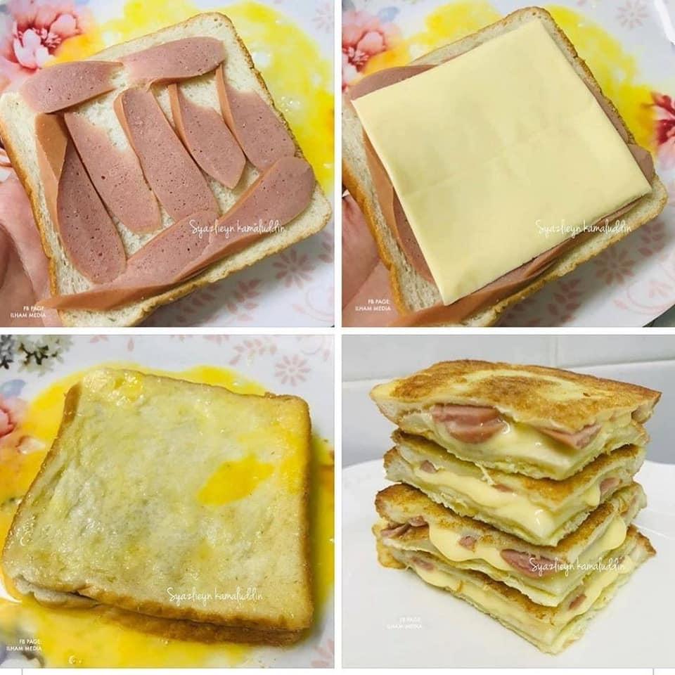 resepi roti telur sosej cheese leleh mudah  sedap  daily resepi viral terkini Resepi Roti Farina Enak dan Mudah