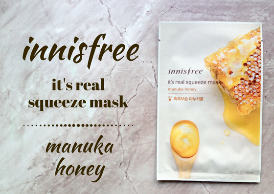 ZAMASKOWANA ŚRODA Z SINGASHOP.PL | INNISFREE IT'S REAL SQUEEZE MASK MANUKA HONEY