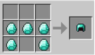 minecraft diamond helmet recipe