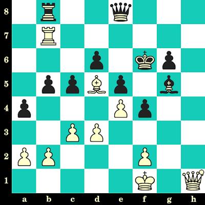 Les Blancs jouent et matent en 2 coups - Pal Benko vs Erno Gereben, Budapest, 1954