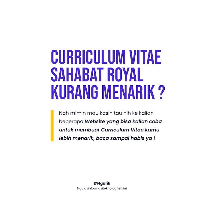 Website Untuk Membuat Curriculum Vitae