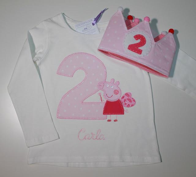 conjunto de cumpleaños 2 años peppapig