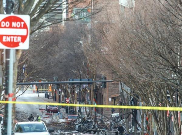 العثور على رفات بشرية بالقرب من موقع انفجار هز مدينة ناشفيل الأمريكية