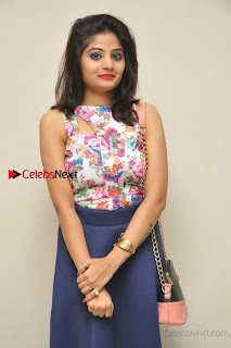Kannada Actress Mahi Rajput Pos in Floral Printed Blouse at Premam Short Film Preview Press Meet  0014.jpg