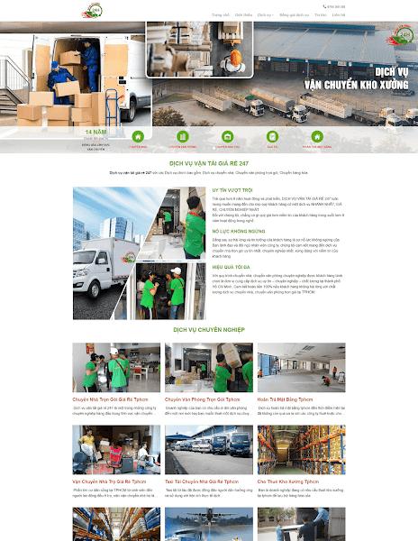 Template blogspot giới thiệu công ty vận tải