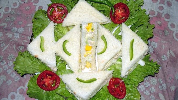 کمرشل سٹائل مائیو چکن سینڈوچ | Egg Chicken Veg Mayo Sandwich
