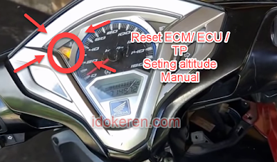 Reset ECU / ECM  TP  dan Seting Altitude Motor Honda Manual