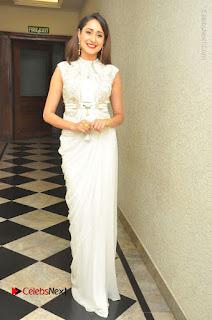 Actress Pragya Jaiswal Stills in Beautiful White Dress at turodu Audio Launch  0046.JPG