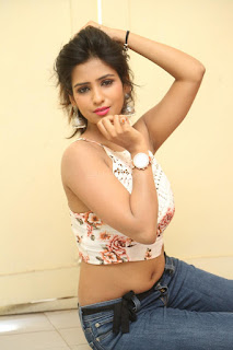 Deekshita Parvathi in a short crop top and Denim Jeans Spicy Pics Beautiful Actress Deekshita Parvathi January 2017 CelebxNext (211).JPG