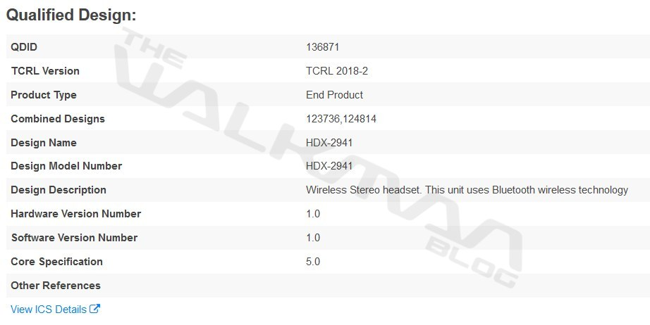 Sony WI-1000XM2 hits the FCC, is this the HDX-2941? - The