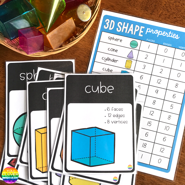 3D Shape Posters and Word Wall Cards | you clever monkey