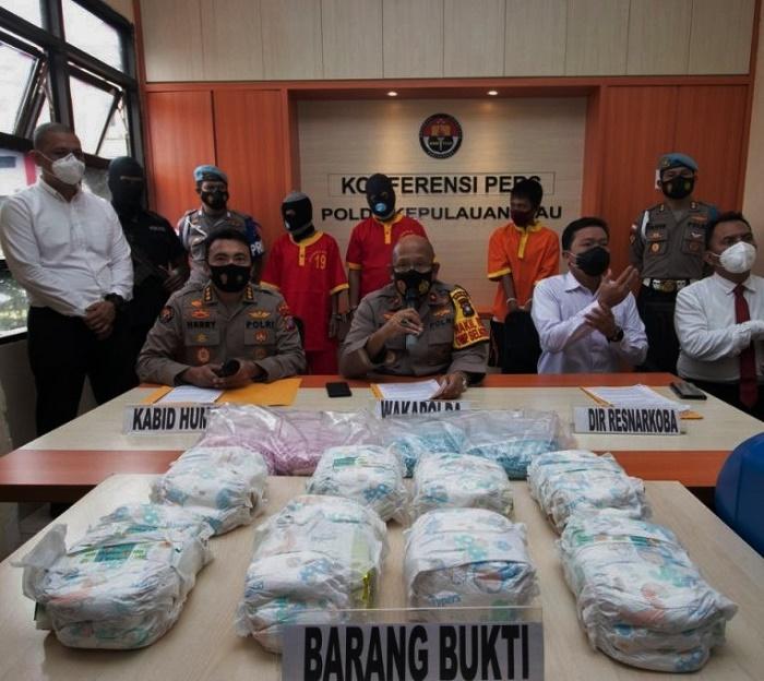 Lagi Narkoba Asal Malaysia Berhasil Diamankan Polda Kepri, Berikut Kronologinya