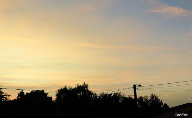 Ciel de matin de fin de canicule