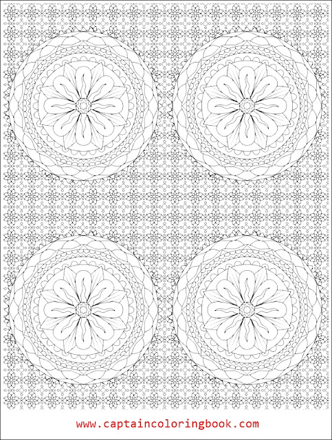 Mandala Flowers for adults coloring-Mandala