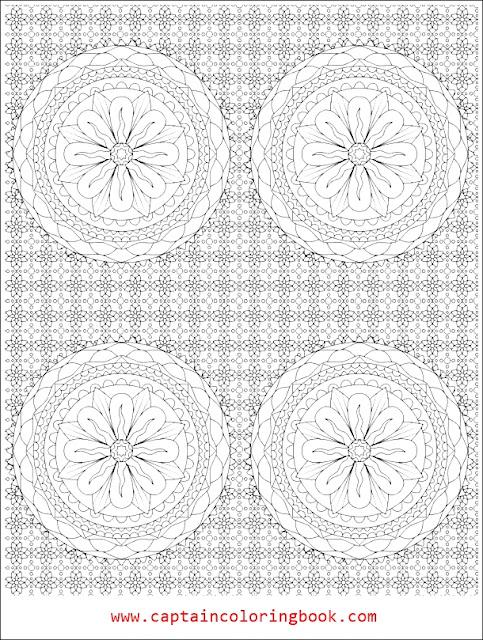 Mandala Flowers for adults coloring-Mandala