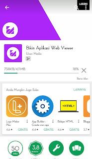 Silahkan anda buka google play store dan Download Bikin Aplikasi