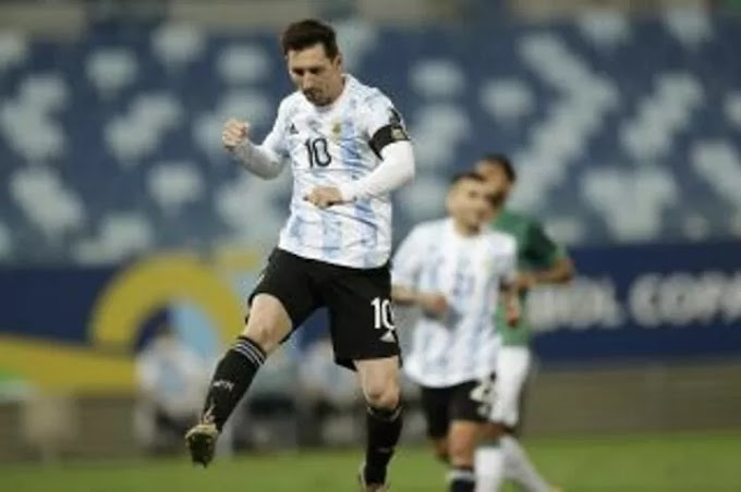 Lionel Messi moves into the top 10 of international goalscorers