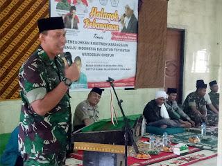 Danrem 162/WB Ingatkan Jaga Persatuan dan Kesatuan Bangsa Dalam Ceramah Kebangsaan di Ponpes Qomarul Huda