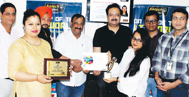 Faridabad's daughter won the National Award for Aptek Taco Mind Competition