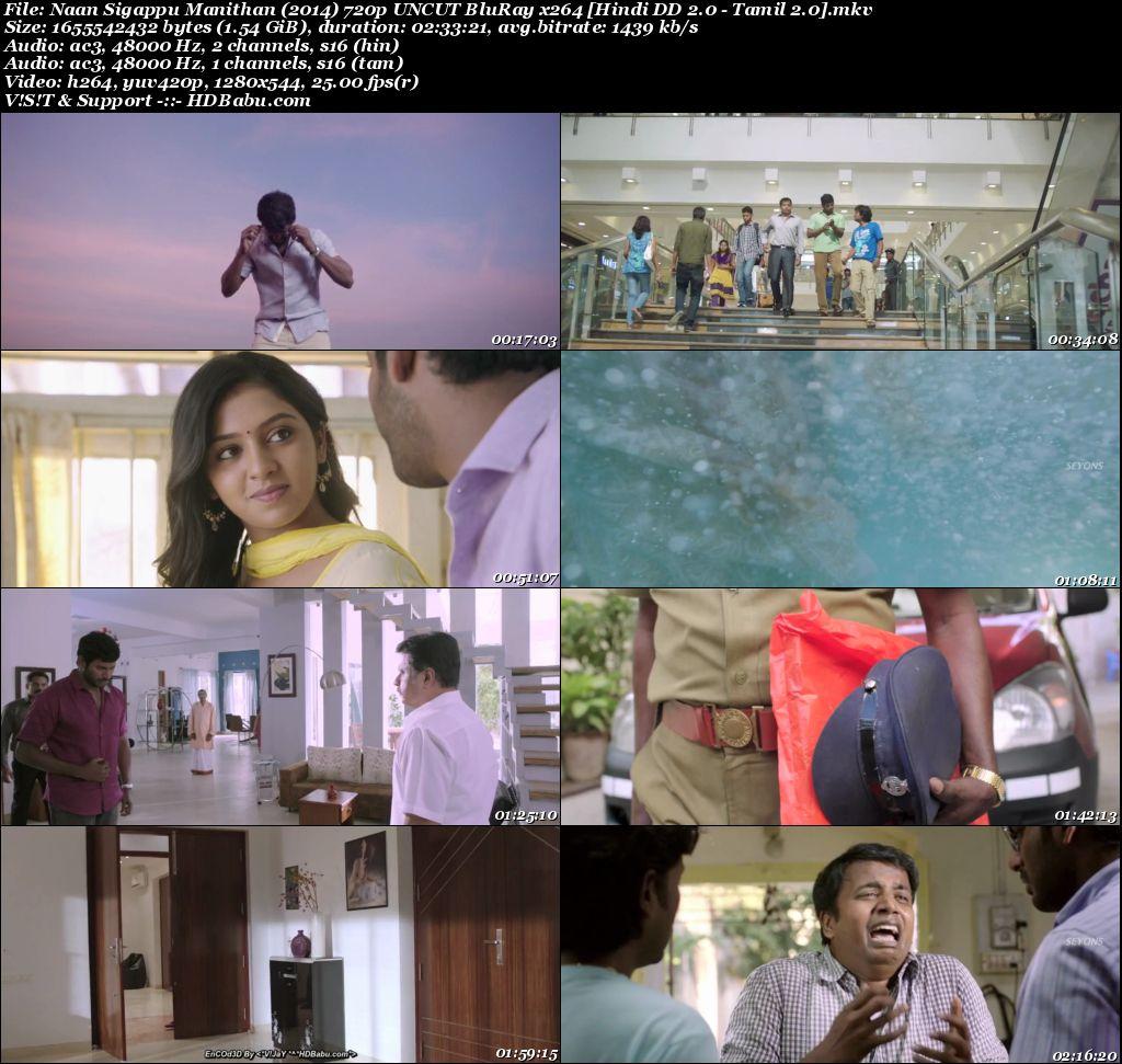 Naan Sigappu Manithan (2014) 720p UNCUT BluRay x264 [Hindi DD 2.0 - Tamil 2.0] Screenshot