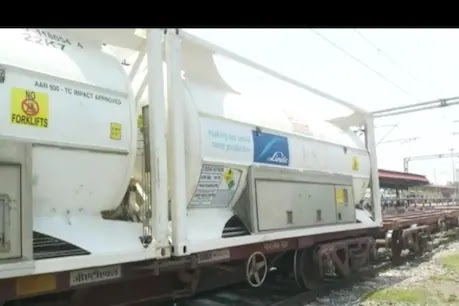 बंगाल से गोरखपुर पहुंची ऑक्सीजन एक्सप्रेस, 40 मीट्रिक टन ऑक्सीजन की आपूर्ति : Gorakhpur News