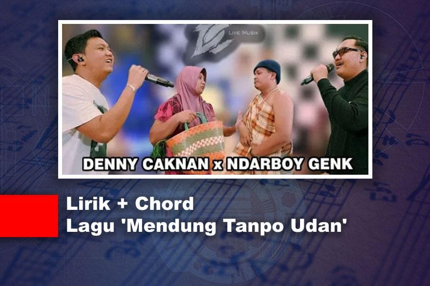Gambar Ilustrasi Lirik Lagu Mendung Tanpo Udan - Ndarboy Genk