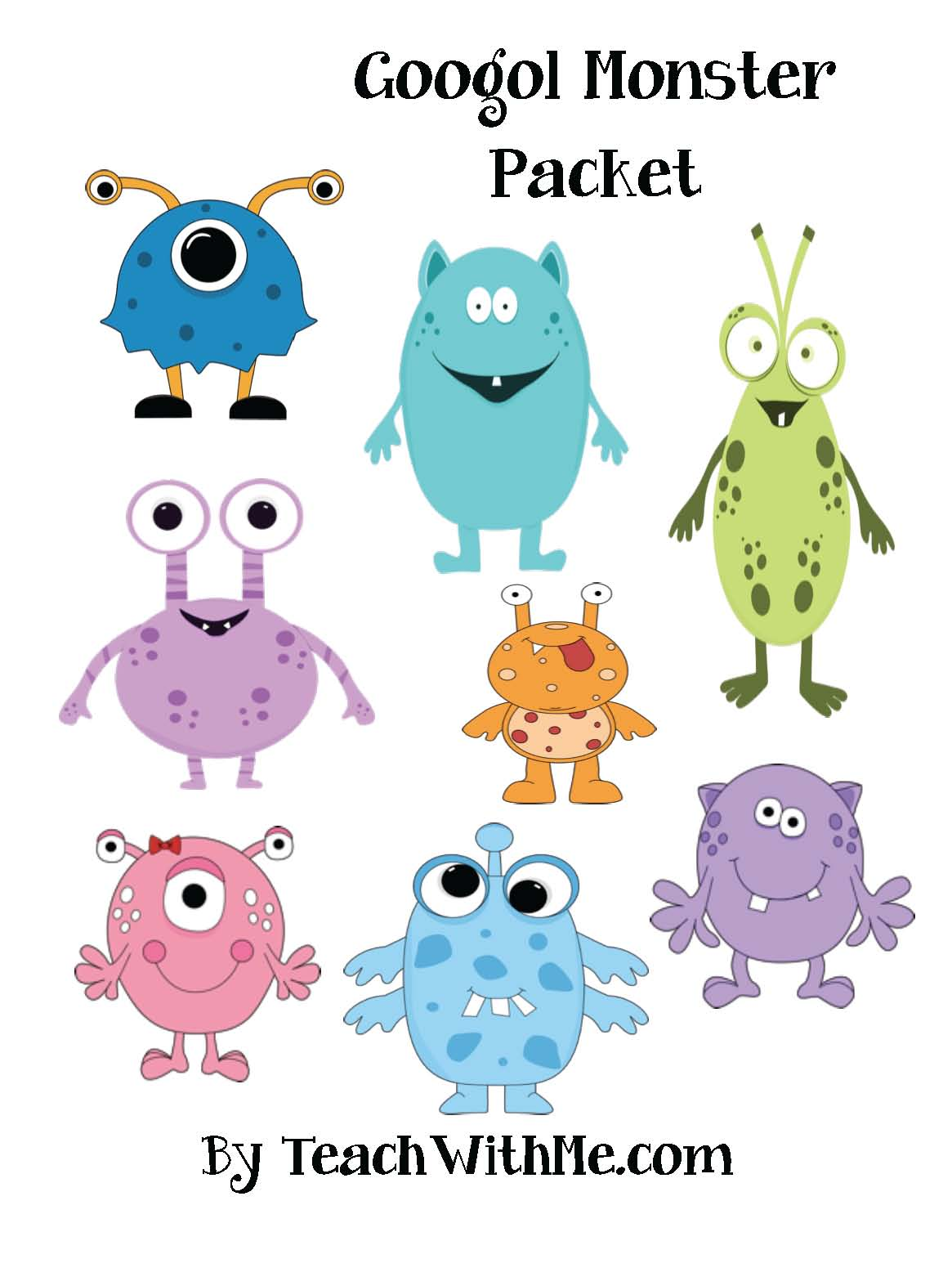 Classroom Freebies 100 Day Googol Monster Packet