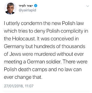 Tweet by Yair Lapid