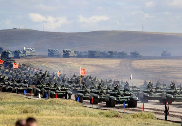 AS Terancam, Rusia dan China Gelar Latihan Perang Besar-besaran