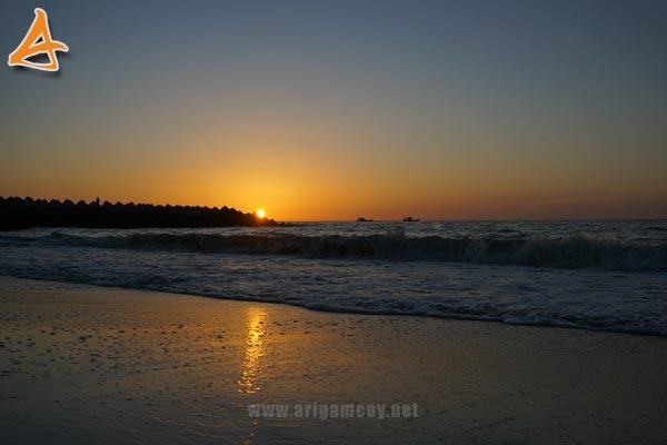 Sunset di Pantai MJ Muara Indah Arung Parak Sambas