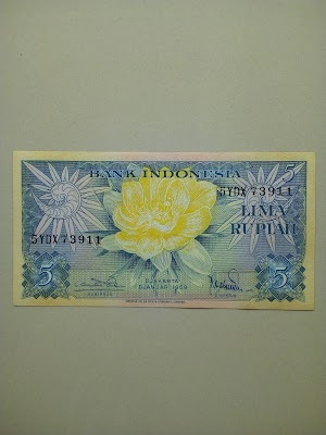 5 rupiah tahun 1959