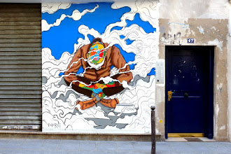 Sunday Street Art : Raphaël Federici aka Paris Sketch Culture - rue de Cléry - Paris 2