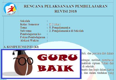 Rpp Kelas 2 Tema 5 Subtema 2 Kurikulum 2013 Revisi 2018