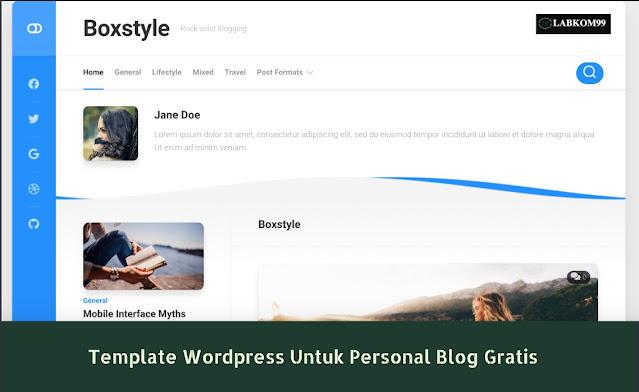 Template WordPress Untuk Personal Blog Gratis