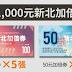【新北加倍券】5,000元五倍券換10,000元新北加倍券