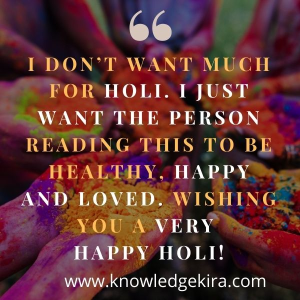 Inspirational Holi Messages in English