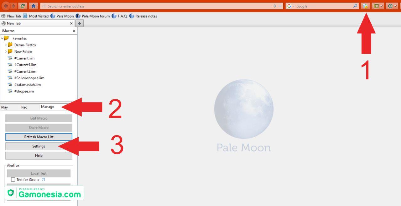 install imacros di pale moon