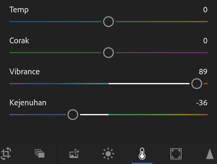 Tutorial Edit foto Aqua and Brown di Lightroom Android