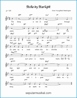chord stella by starlight lagu jazz standar