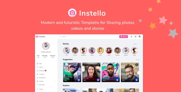 Best Photo Sharing HTML Template
