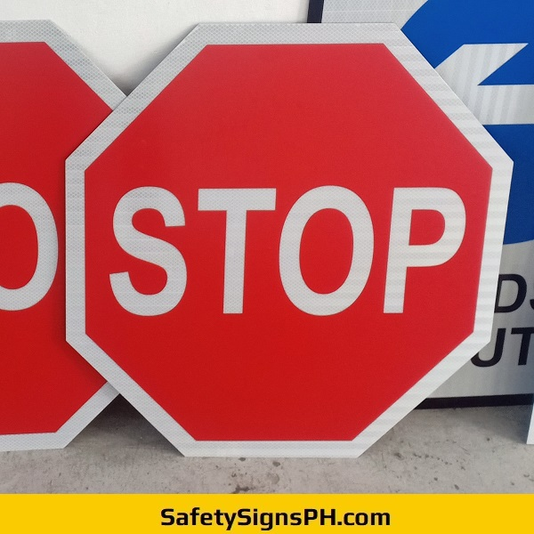 Octagon Stop Road Signage