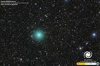 Kometa 46P/Wirtanen, zdjęcie z 12.11.2018 r. Credit: José J. Chambó Hakos Astrofarm (Namibia, Afryka). Obiektyw Canon 200mm. f1.8, kamera SBIG STT-8300. Ekspozycja 84 minuty.