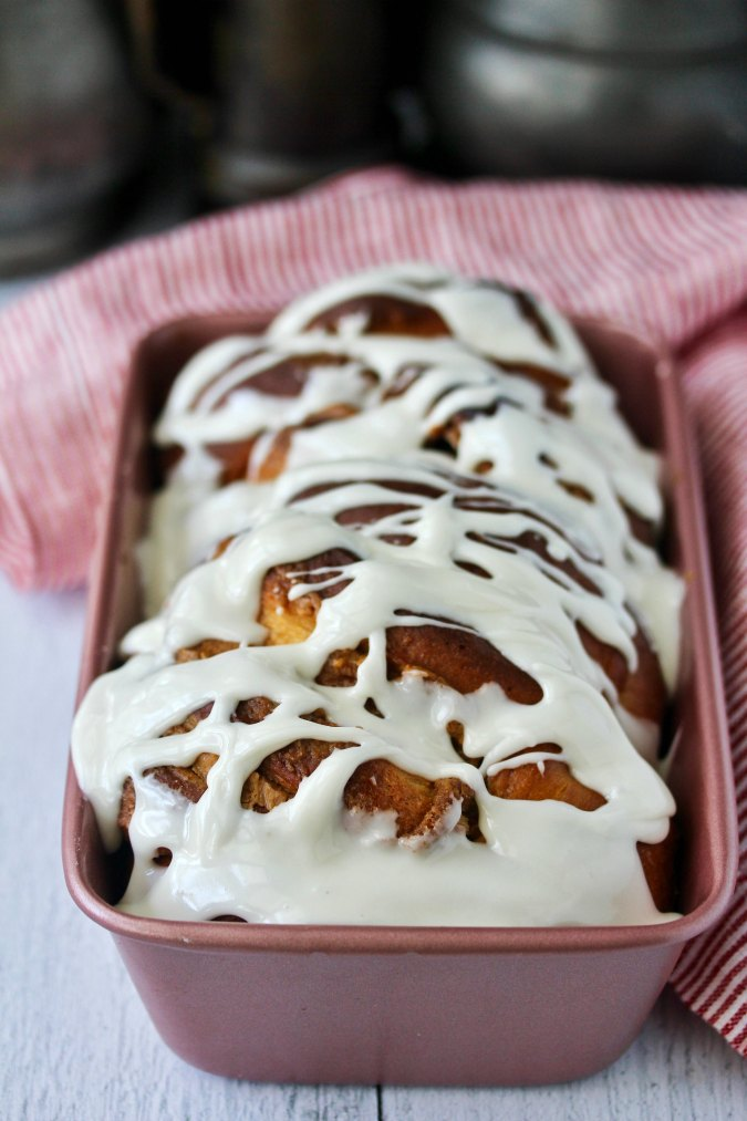 Peanut Butter Babka with vanilla glaze