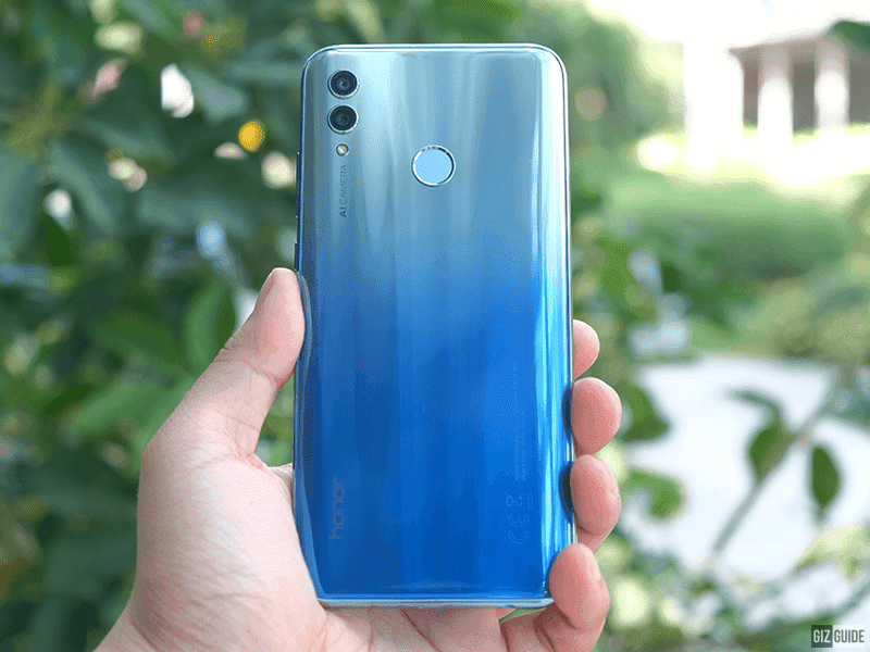 Rear design of the Honor 10 Lite