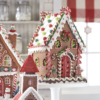 Gingerbread house with clay dough candy pieces